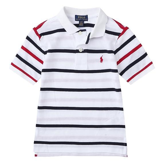 Polo Ralph Lauren Crew Stripe SS T-Shirt Navy Multi SALE EVENT
