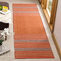 Safavieh Montauk Collection MTK214B Orange and Red Runner (23 x 8)
