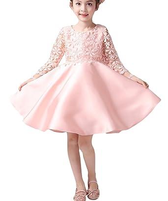 Jimall Jimall Mädchen Prinzessin Kleider Spitzen Floral Kleid ...