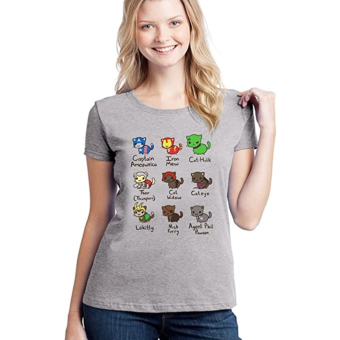 Camiseta de gatos disfrazados de Los Vengadores, para mujer: Amazon.es: Ropa y accesorios