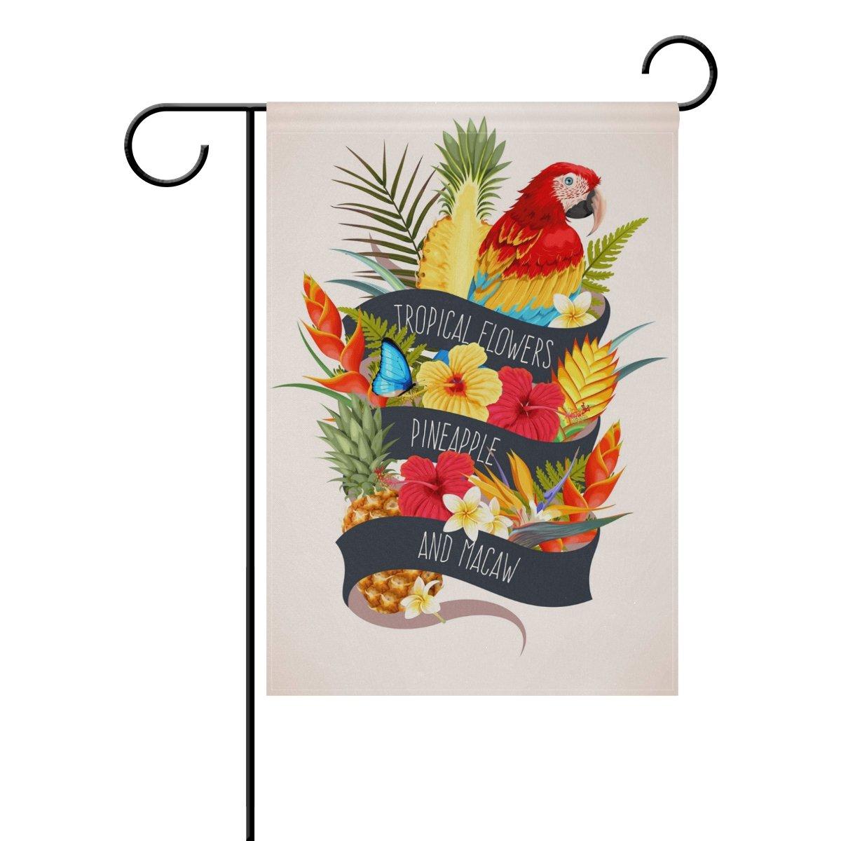 Alaza Bandera De Verano Diseño De Frutas Y Pájaros De