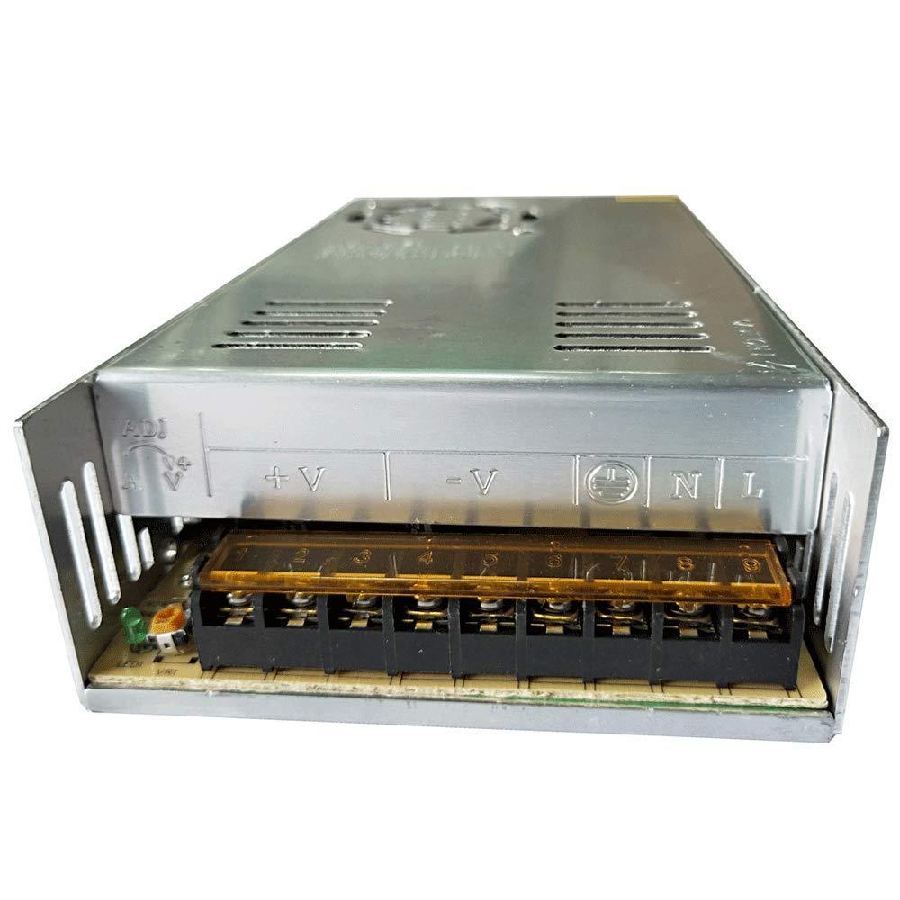 Henxlco AC 110V - 220V TO DC 12V Regulated Transformer Switch Power Supply Driver Adapter For CCTV camera Security System LED Strip Light (30A)