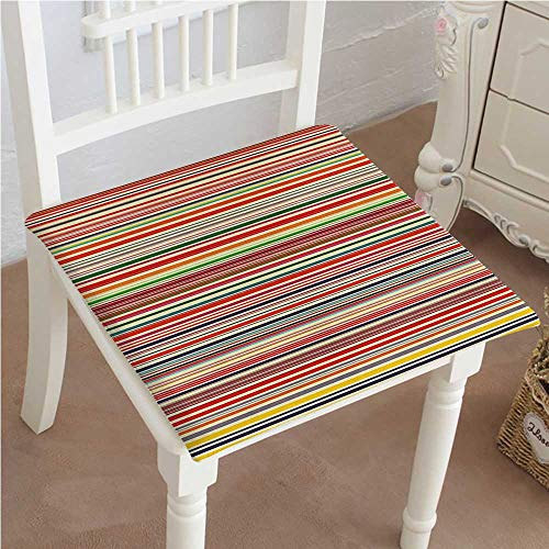 - Chair Seat Pads Cushions Horizontal Colorful Striped Lines Background Rainbow Bars Artistic Display Multicolor Square Car and Chair Cushion/Pad with Ties, Soft, for Indoors Or Outdoor 14