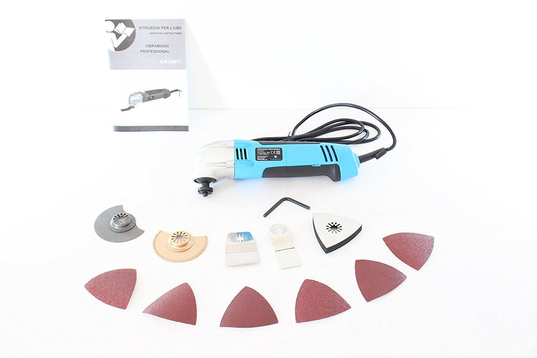 Minipulidora multifuncional Multiherramienta oscilante 300 W con 5 acoplamientos tool electric- Vibramagic Professional Multitool professionale