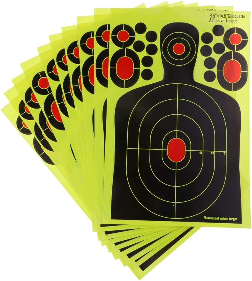 25pcs Shooting Targets Reactive Splatter 14x14cm Paper Target