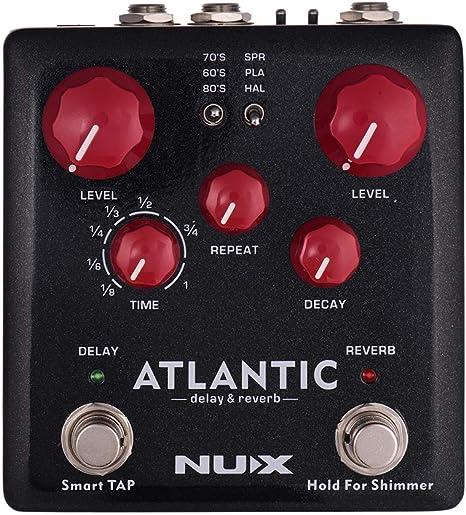 Muslady NUX ATLANTIC Delay & Reverb Pedal de Efecto de Guitarra ...