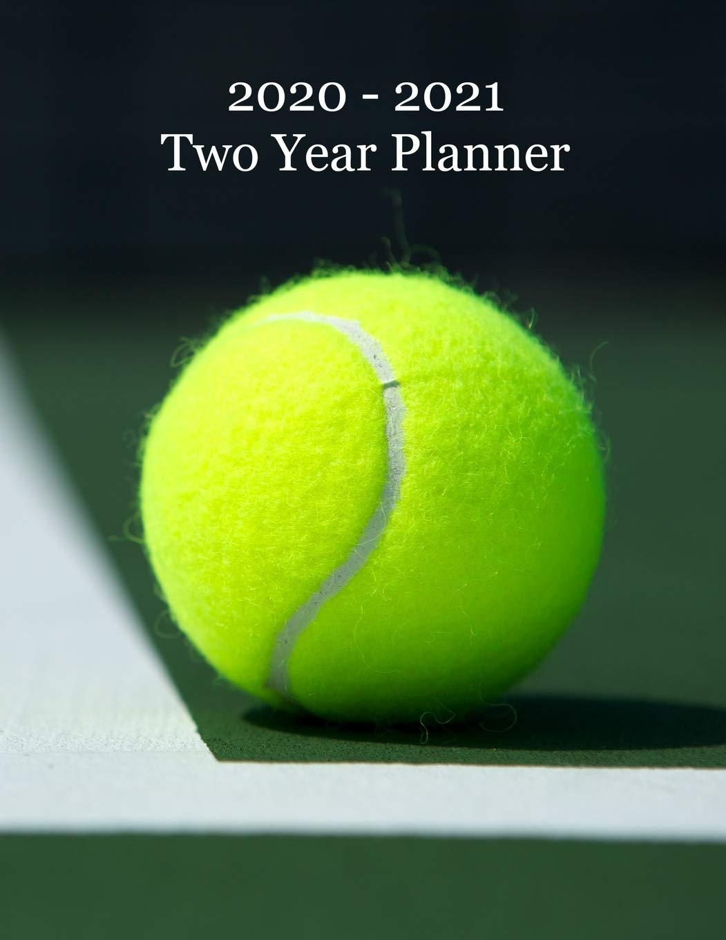 2020 – 2021 Two Year Planner: Tennis Ball on Court Cover