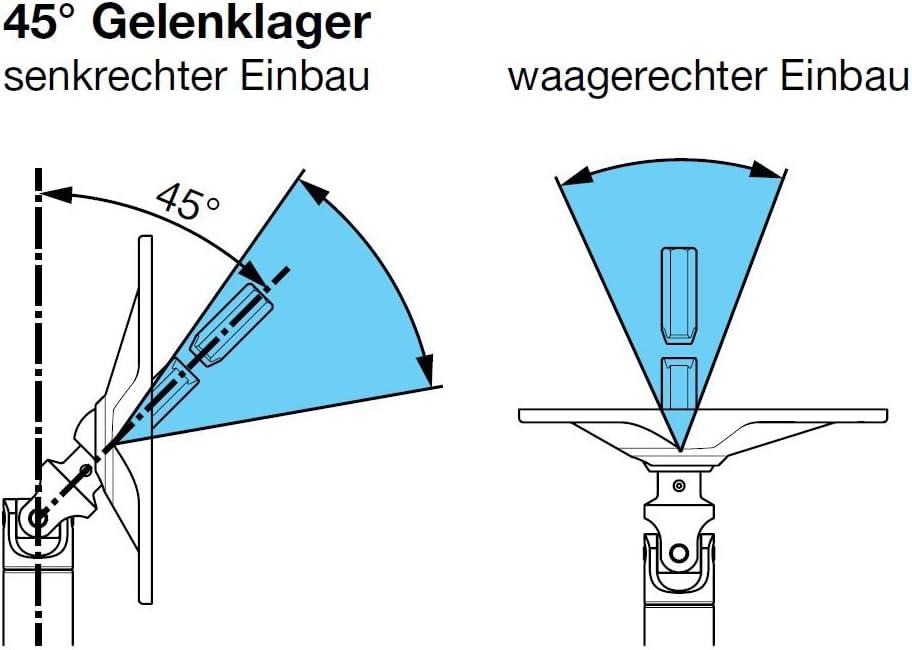 Antrieb zum Rolladengetriebe 6 mm Vierkant Kurbelzapfen Anschluss 11,9 mm Rolladen Gelenklager G009 45 Grad Umlenkung Grundplatte 22 x 52 mm mit 2 Befestigungsl/öcher DIWARO./®