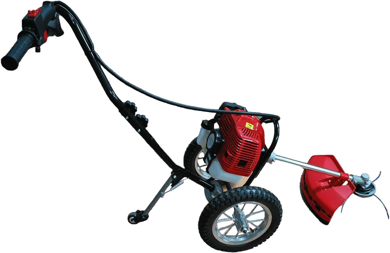 AGRILUCCA desbrozadora con Ruedas Motor 52 CC de 2 Tiempos: Amazon.es: Jardín