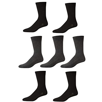 'Van Heusen Mens Moisture Control Comfort Dress Socks With Reinforced Heel And Toe (7 Pack), H.GREY-BLACK, Size Shoe Size: 6-12.5' at Amazon Men's Clothing store