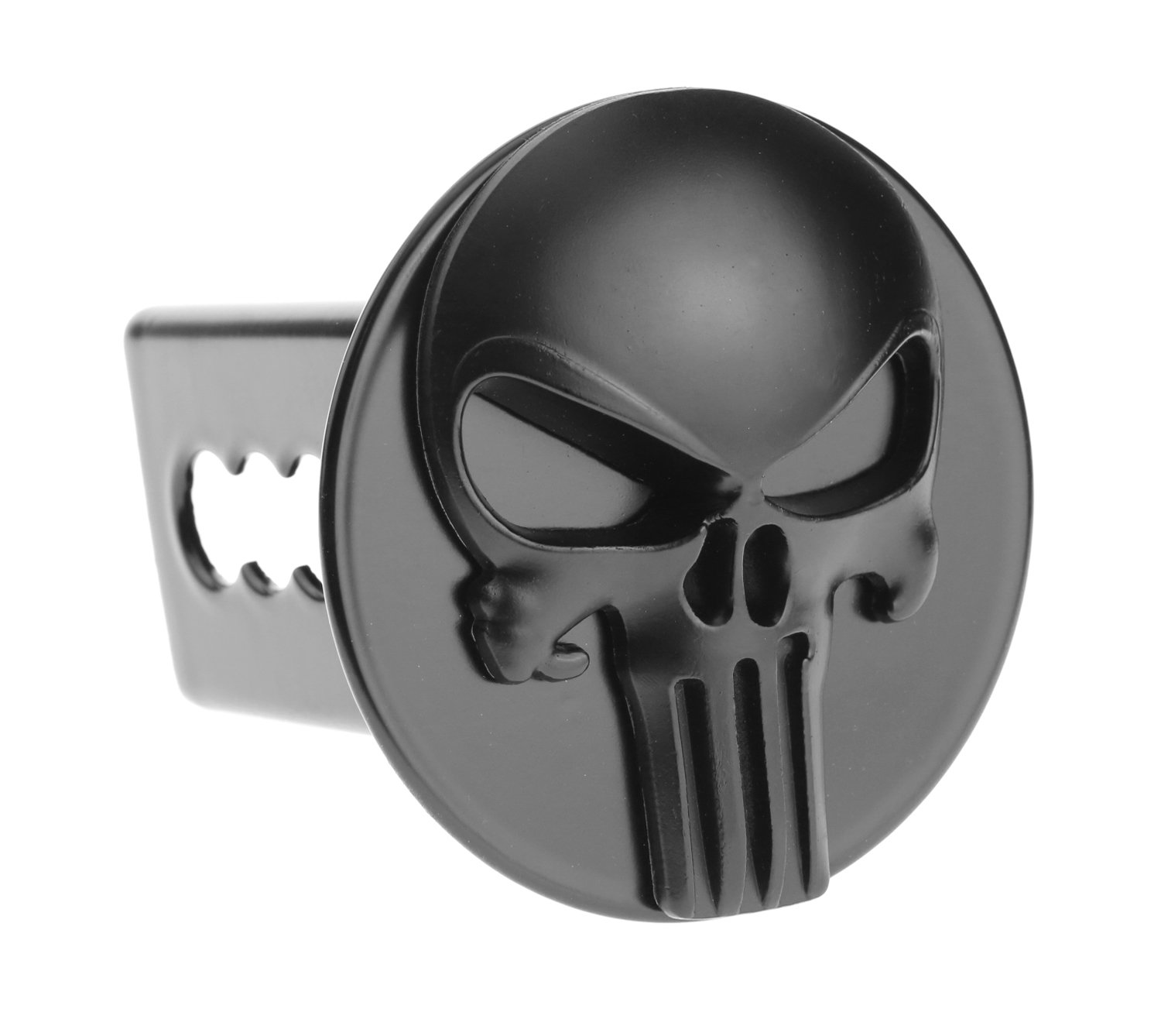 Punisher 3D Black Emblem Metal Trailer Hitch Cover Fit 2' Receivers bparts
