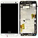 ePartSolution-White HTC One M7 LCD Touch Digitizer Screen Assembly with Housing Frame Replacement Part USA Seller
