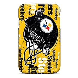 Scratch Resistant Hard Phone Case For Samsung Galaxy S4 With Provide Private Custom Attractive Pittsburgh Steelers Pictures ErleneRobinson