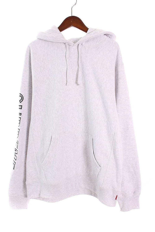 (シュプリーム) SUPREME 【18SS】【Sleeve Embroidery Hooded Sweatshirts】袖ロゴパーカー(M/ライトグレー) 中古 B07FMR7YQD