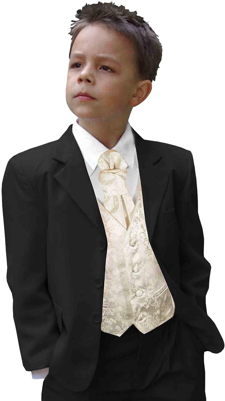 Jungen Anzug 5 Teile Hochzeit Seite Party Ball Blau Schwarz Grau 2-15 Jahre