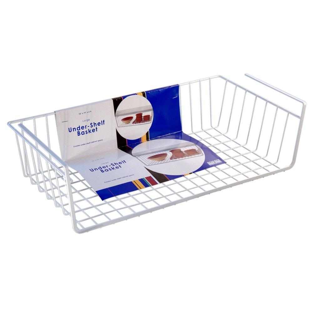 Amazon.com: Organized Living Under Shelf Basket   White: Home U0026 Kitchen