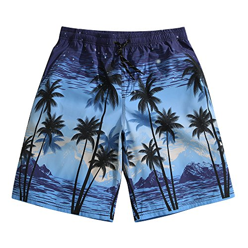 Mens Ultra Quick Dry Island Night Fashion Board Shorts Small 31-32