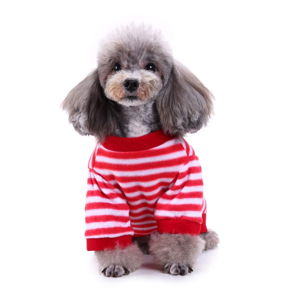 a8d2d9820f9 Dog Cat Christmas Clothes, Elogoog Pet Cute Sweater Stripe Design ...