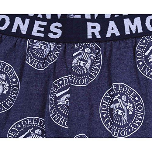 Ramones Top & Shorts Shorty 2tlg. Schlafanzug-Set Nachtwäsche kurz Pyjama blau