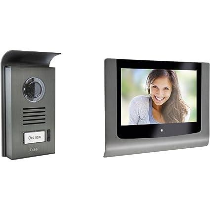 2 hilos, pantalla de 7 Extel 720216 Levo Videoportero autom/ático con pantalla a color