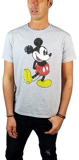 c4bdb43b Amazon.com: Disney Mickey Mouse Classic Distressed Graphic T-shirt ...