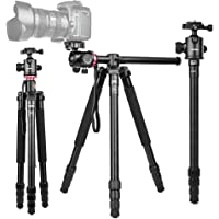 """360°Horizontal rotation Professional Travel Camera Tripod, Portable Projector Stand with 360°Panorama Ball Head,1/4"""" Quick Release Plate and Bubble Level for Canon Nikon Sony Olympus Fuji Projector DV Camcorders"""