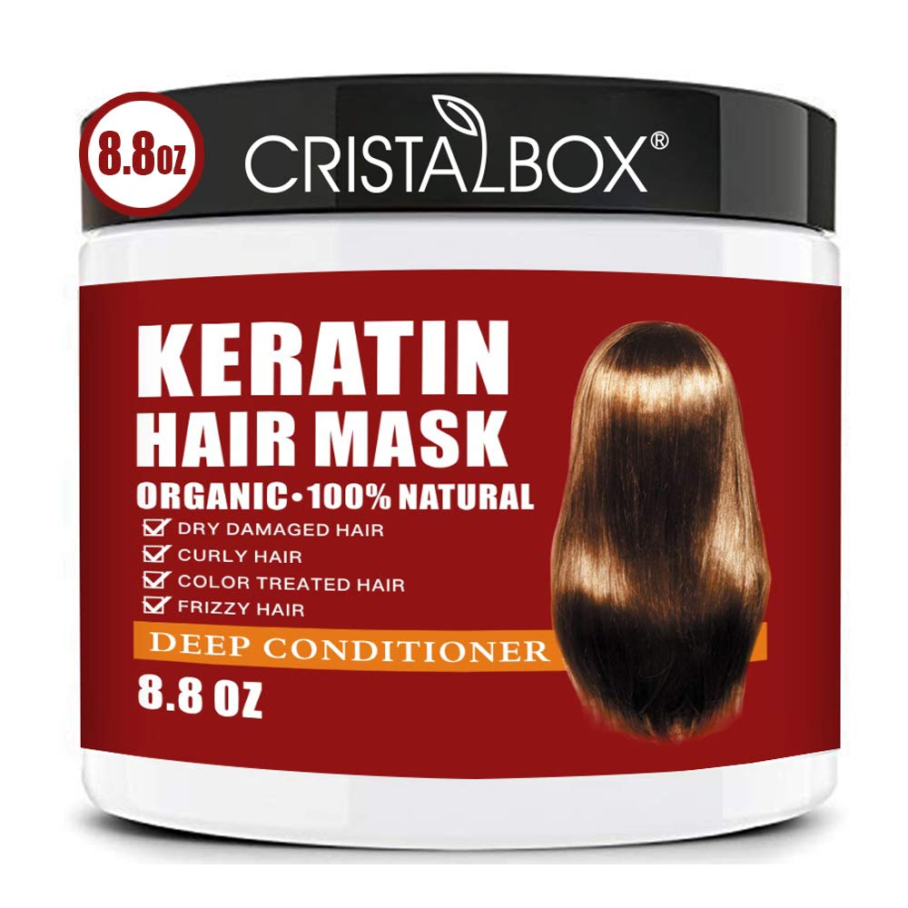 Keratin Hair Mask,2021 Deep Repair Damage Hair Root, 250ml Hair Mask for Dry Damaged Hair,Hair Treatment Mask Hair Tonic Keratin Hair & Scalp Treatment