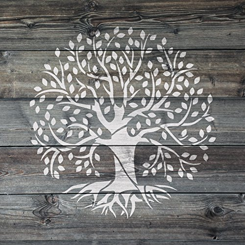 Tree of Life Stencil Template Reusable Stencil with Multiple Sizes Available