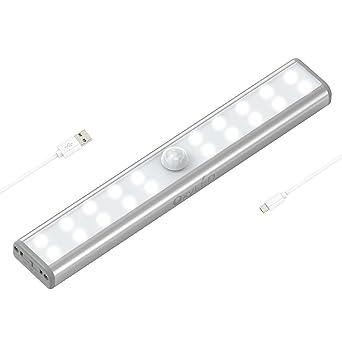 OxyLED 20 LED Schrankbeleuchtung,USB Wiederaufladbar Bewegungssensor ...