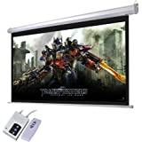 """Yescom 92"""" 16:9 Electric Motorized Projector Screen Auto with Remote Control Home Classroom Meeting Room Bar"""