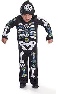 11fae92c1739ef Bristol Novelty Cc444 Combinaison de Squelette pour garçon à Capuche,  Taille, Multicoloured, Moyen