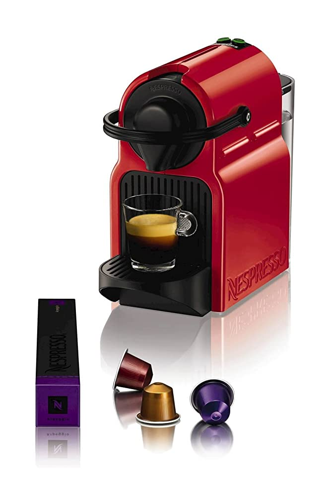 Nespresso Inissia Coffee Capsule Machine, Ruby Red by Krups ...