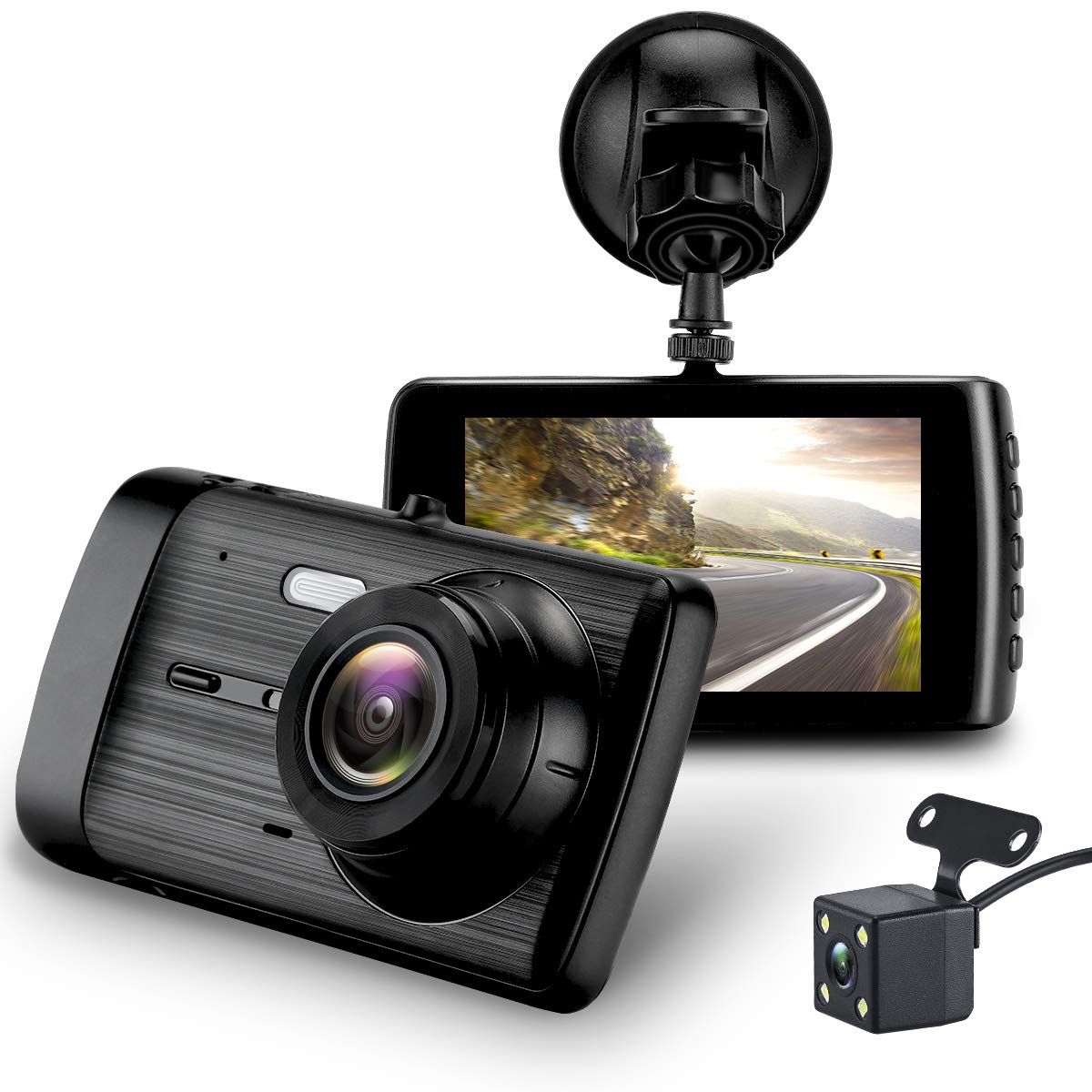 Dash Cam, Car Camera Dashboard Camera Recorder Car DVR 1080P HD Night Vision, Wide-angle Car Video Recorder with 3.7'' LCD inch Display Video G-Sensor Loop Recording