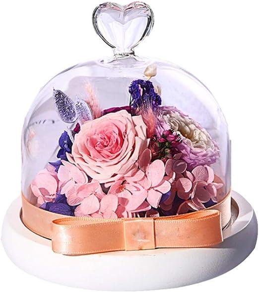 Conservado Flores inmortal rosa para los amantes de las madres Flor de la vida eterna 8 un.//Box
