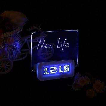 MXECO Tablero de Mensajes Fluorescente de luz LED Reloj ...