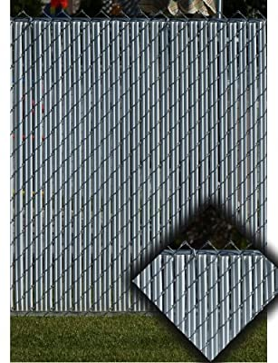 Gray Privacy Fence Slats (for 4' Chain Link)