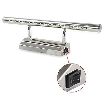 Neu Bobotogo LED Spiegelleuchte mit Schalter Bad 5W 180° schwenkbar  GV96