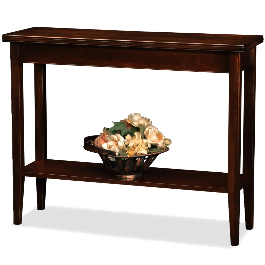 Leick laurent 2 drawer coffee table home kitchen for 24 wide console table