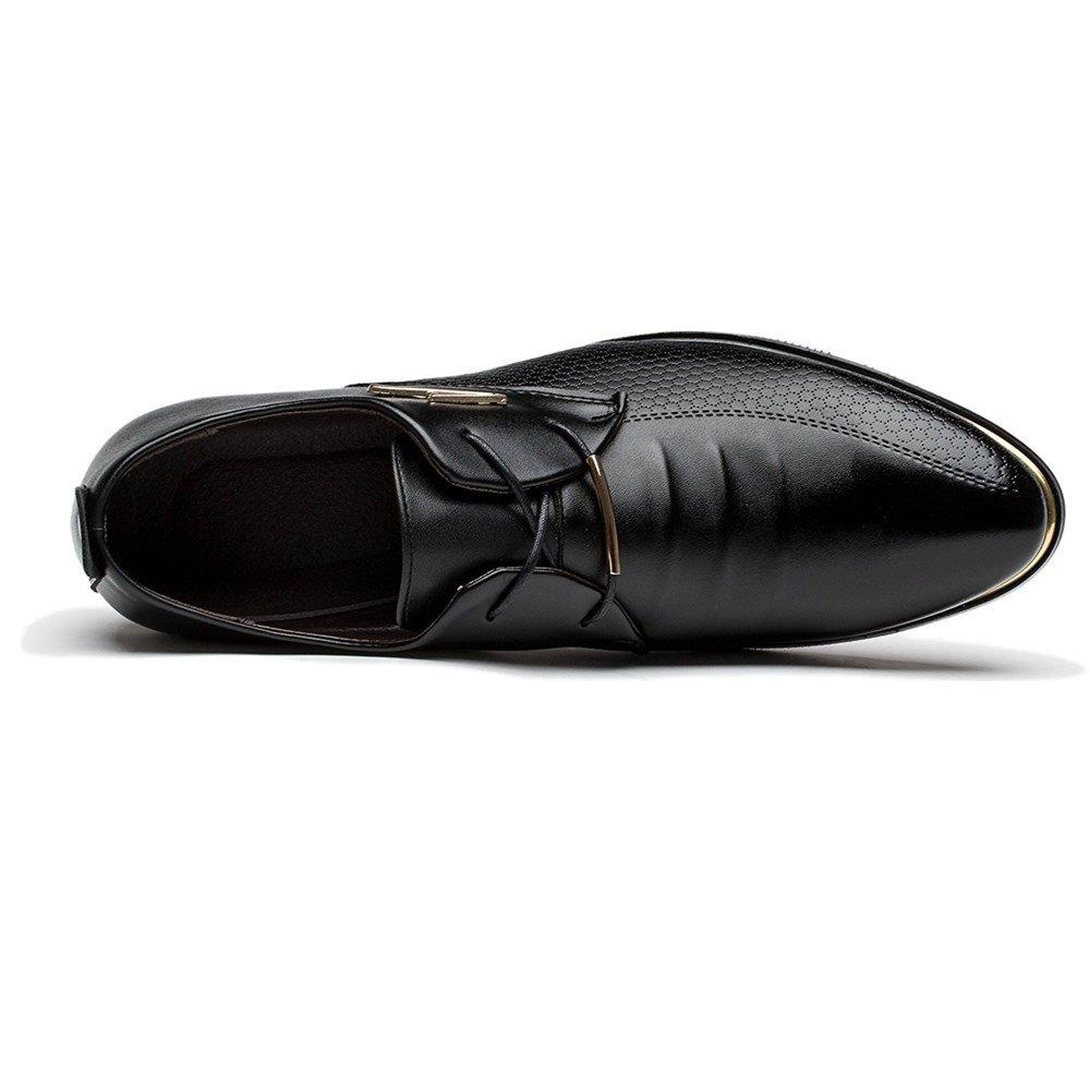 Blivener Men's Pointed Toe Classic Oxford Formal Business Dress Shoes Black US 8.5 by Blivener (Image #6)