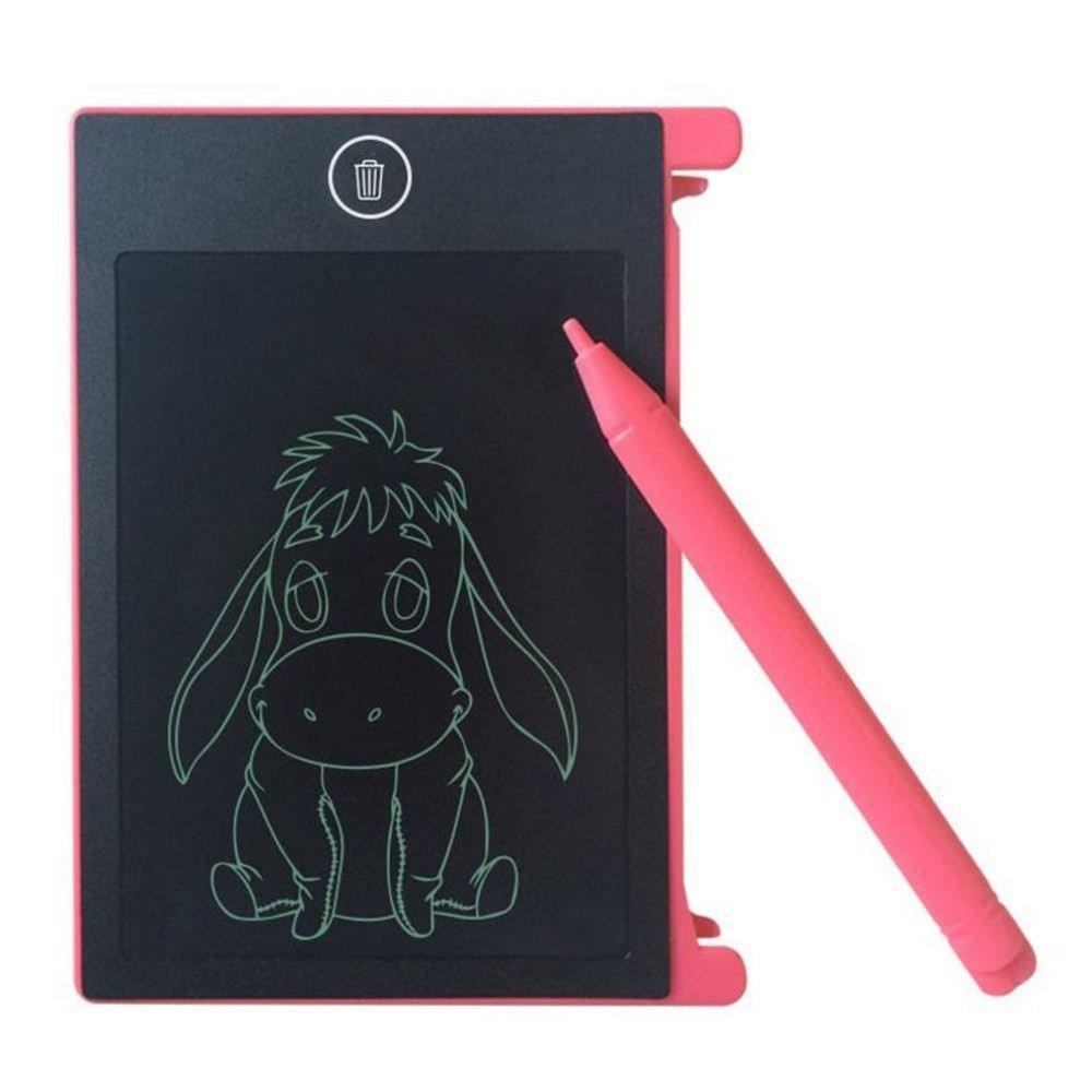 SODIAL 4.4-pulgadas LCD EWriter Paperless Memo Pad Tablet Escritura Dibujo Tablero de graficos Rosa 151752A1