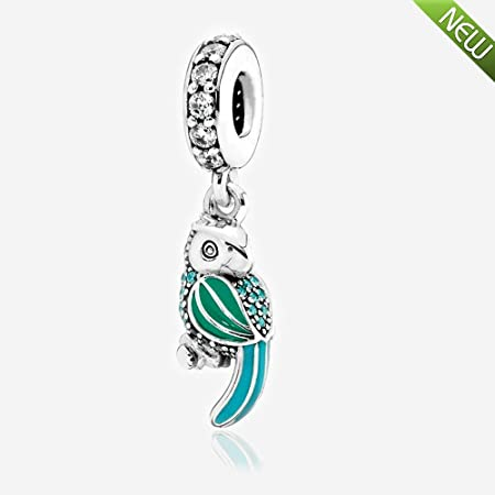 f992716d3 European 2016 Summer Tropical Parrot Hanging Charm Bead Authentic 925 Sterling  Silver Fits Pandora Bracelet &Necklace DIY Jewelry: Amazon.co.uk: Kitchen &  ...