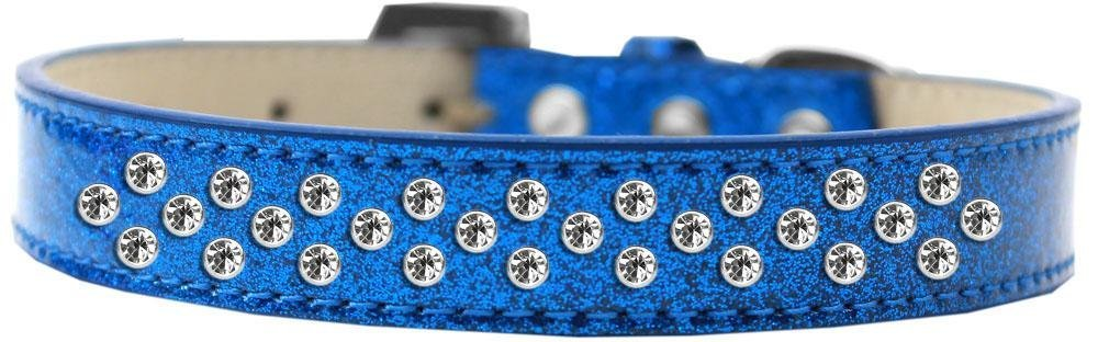 bluee Size 16 bluee Size 16 Mirage Pet Products Sprinkles Ice Cream Dog Collar with Clear Crystals, Size 16, bluee