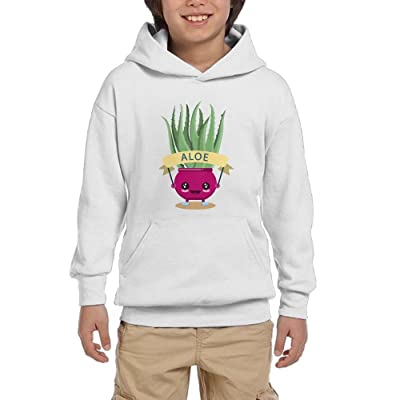 Aloe Pot Culture Cute Youth Pullover Hoodies Hip Hop Pockets Sweatsuit
