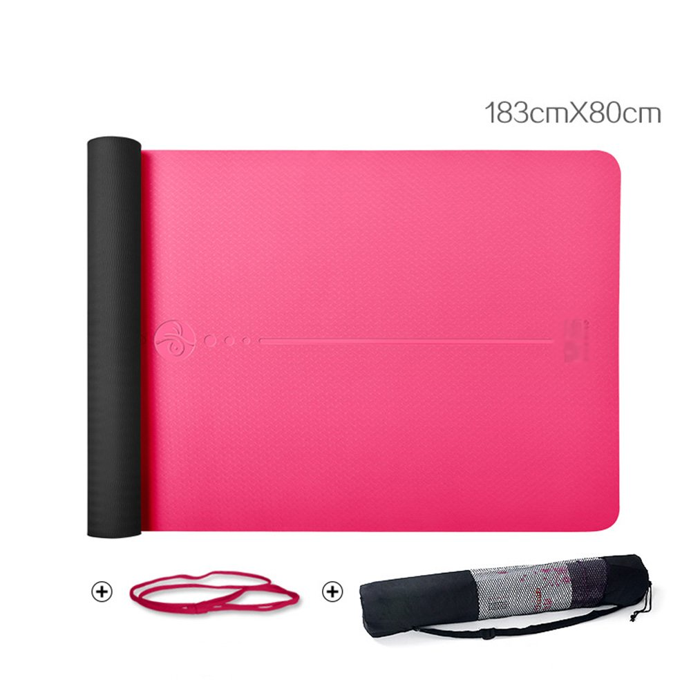 HUO Mode Yoga Matte MS Beruf Design Fitness Matte Rutschfeste Dauerhafte TPE Teppich 183  80  0,6 cm