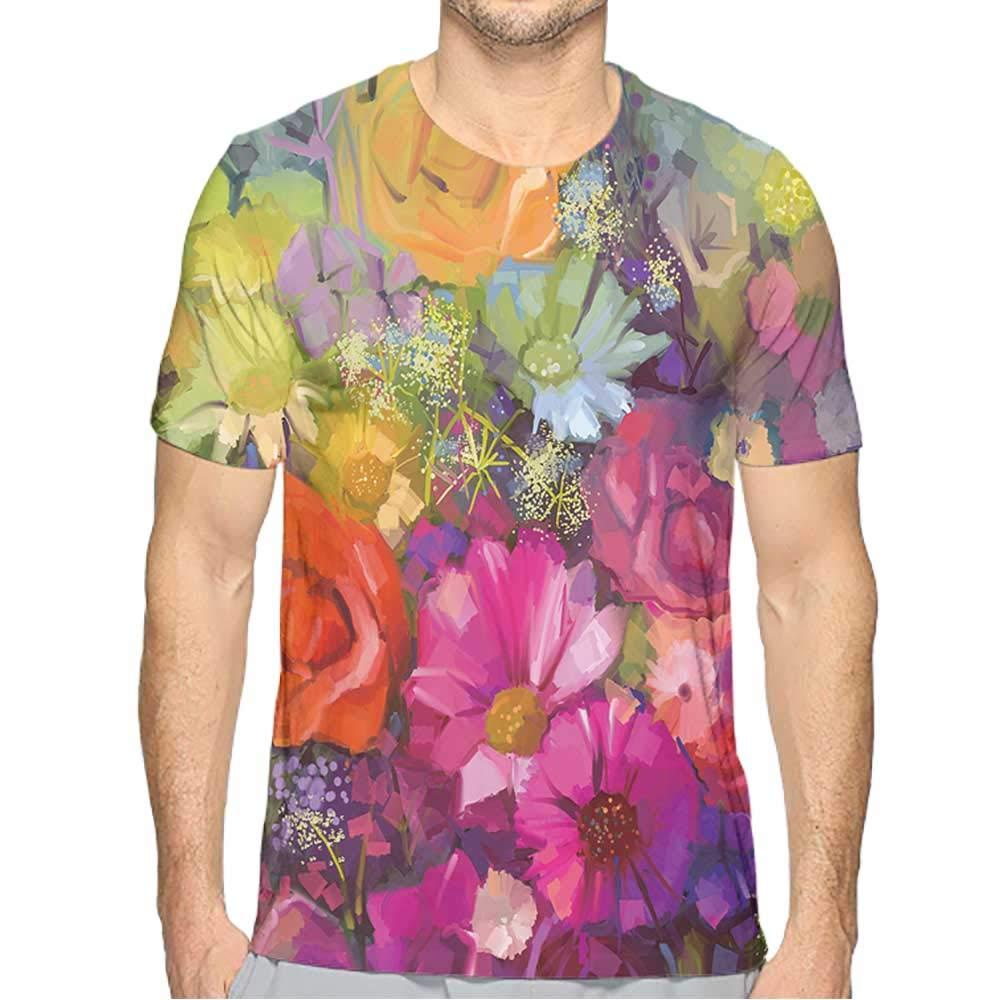PRUNUS T-Shirt for Men 3//4 Sleeve Fashion Mens 3D Top Tees