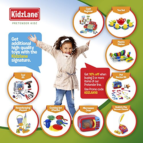 Kidzlane Deluxe Doctor Medical Kit - Pretend Play Set for Kids