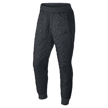 45a92df68de Amazon.com: Jordan Men's Nike AJ VII Quilted Fleece Jogger Pants-Black/Dark  Gray-Small: Sports & Outdoors