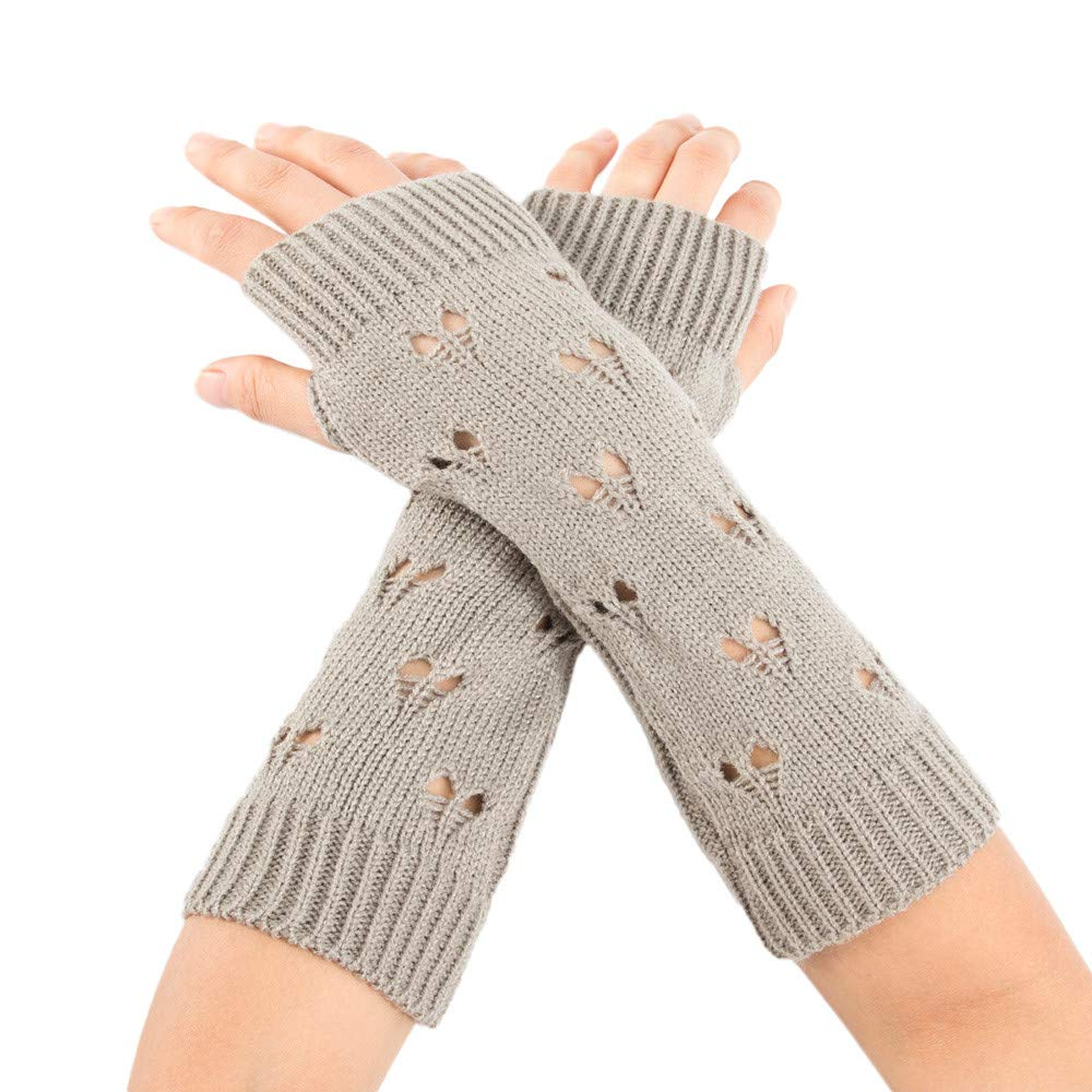 [Fheaven Gloves] レディース B07JHJ2KCX グレー