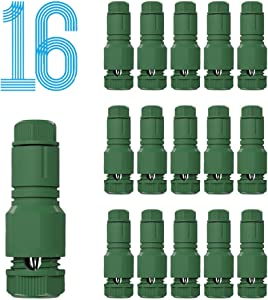 TAPDOT Low Voltage Wire Connectors for Landscape Lighting Path Lights 12-14 Gauge Replacement Landscape Light Cable Connector Malibu Paradise Moonrays and Other Outdoor Lighting Brands(16 Pack Green)