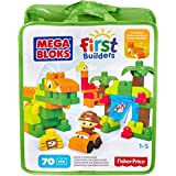 Mega Bloks By Fisher-Price First Builders Dinosaur Building Set With Storage Bag  Unique 70 Piece Building Blocks Set For Super Fun and Educational Purpose